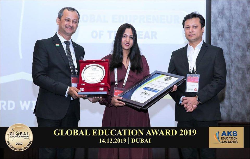 Our Managing Director Ms.Swetha Manthena conferred the Global Edupreneur award