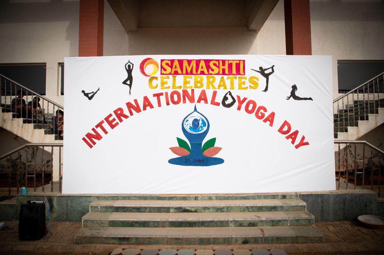 International Day of Yoga at Samashti International School, Kollur, Hyderabad