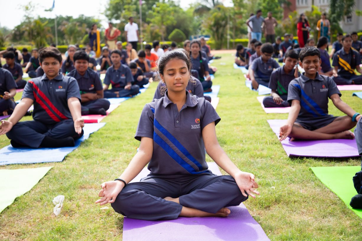 International Day of Yoga at Samashti International School, Kollur, Hyderabad