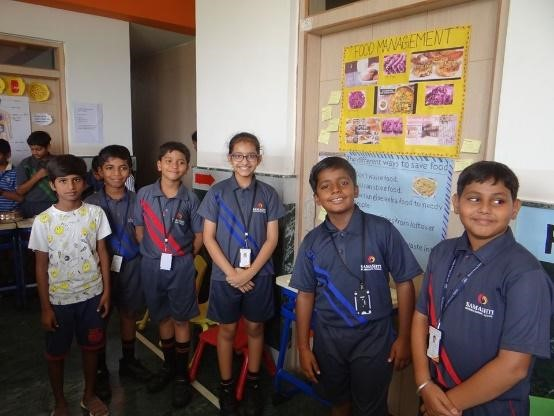 Concept of food management inspired the students at Samashti